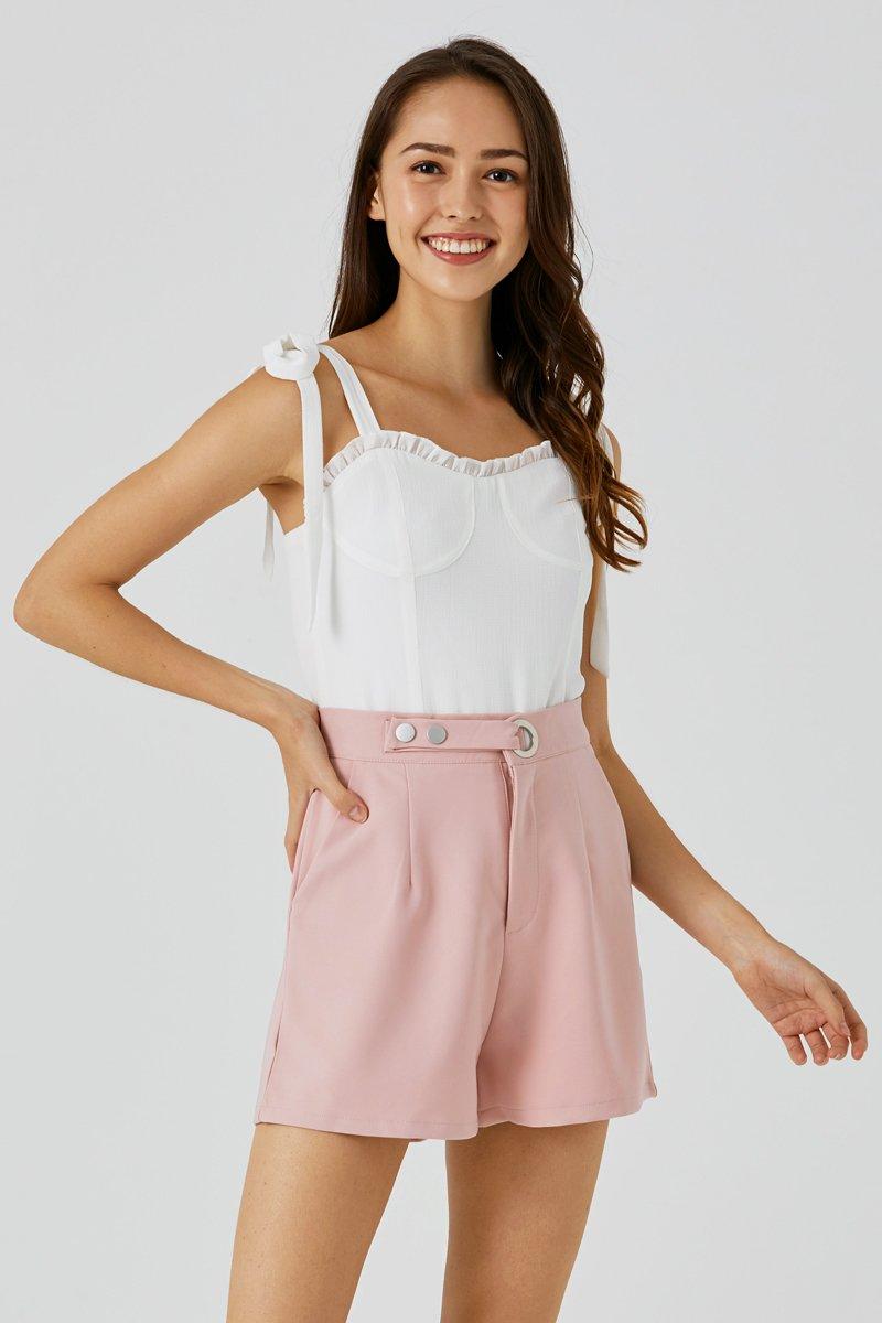 Mariana Tie Shoulder Top Ivory