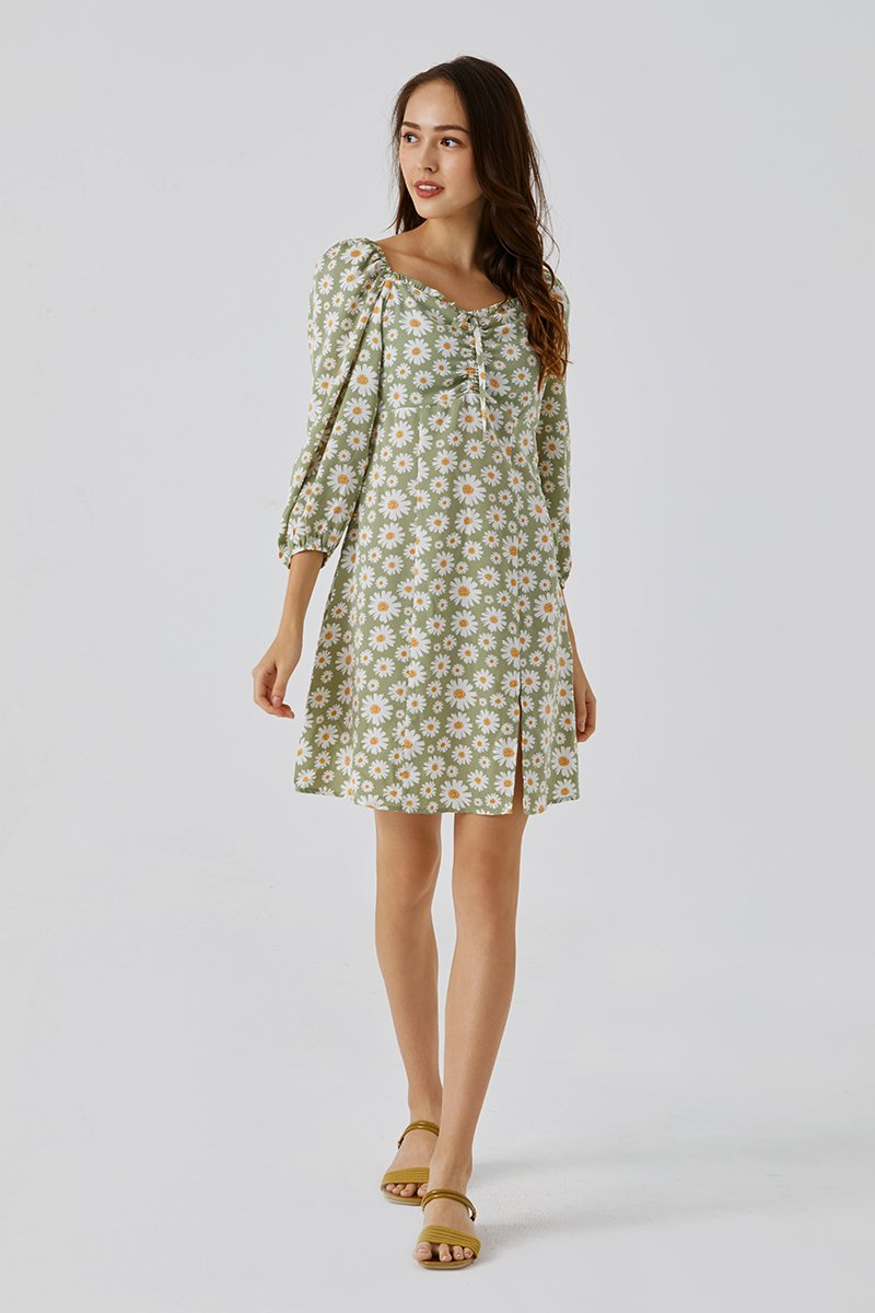 Laila Sweetheart Neck Dress Mint