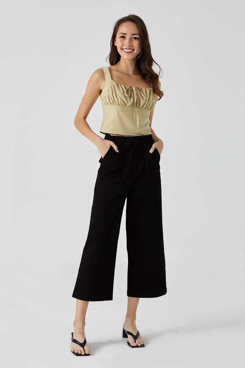 Lora Wide Leg Pants Black