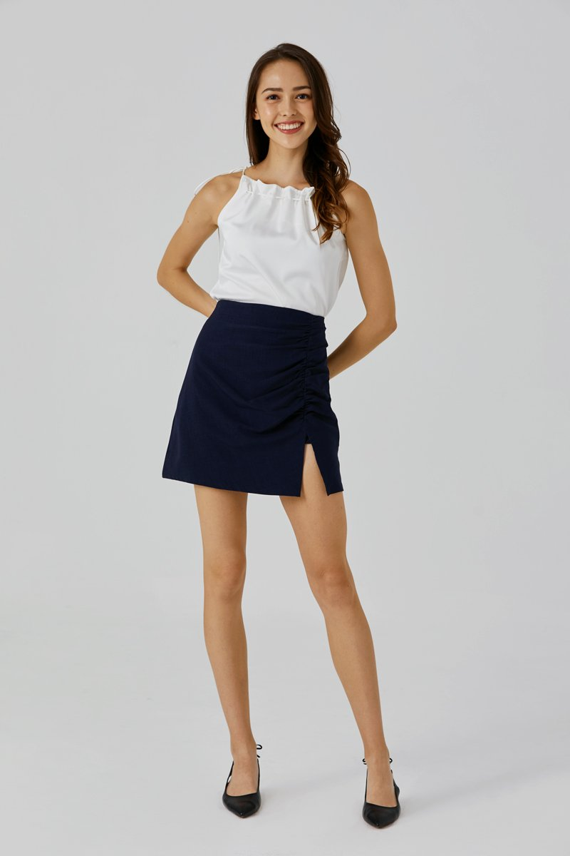 Madeline Ruched Skirt Midnight