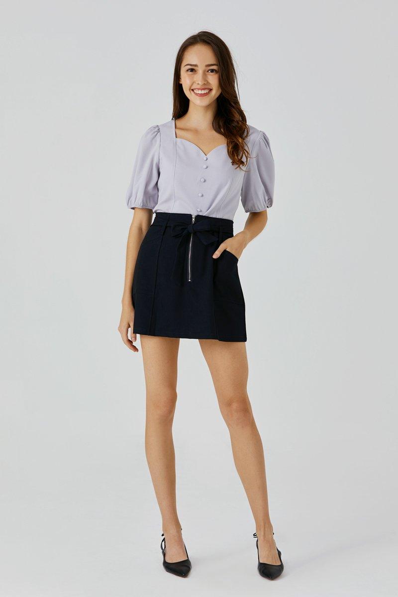 Alice Belted Skirt Black