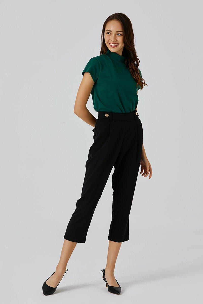 Lilliana Paperbag Pants Black