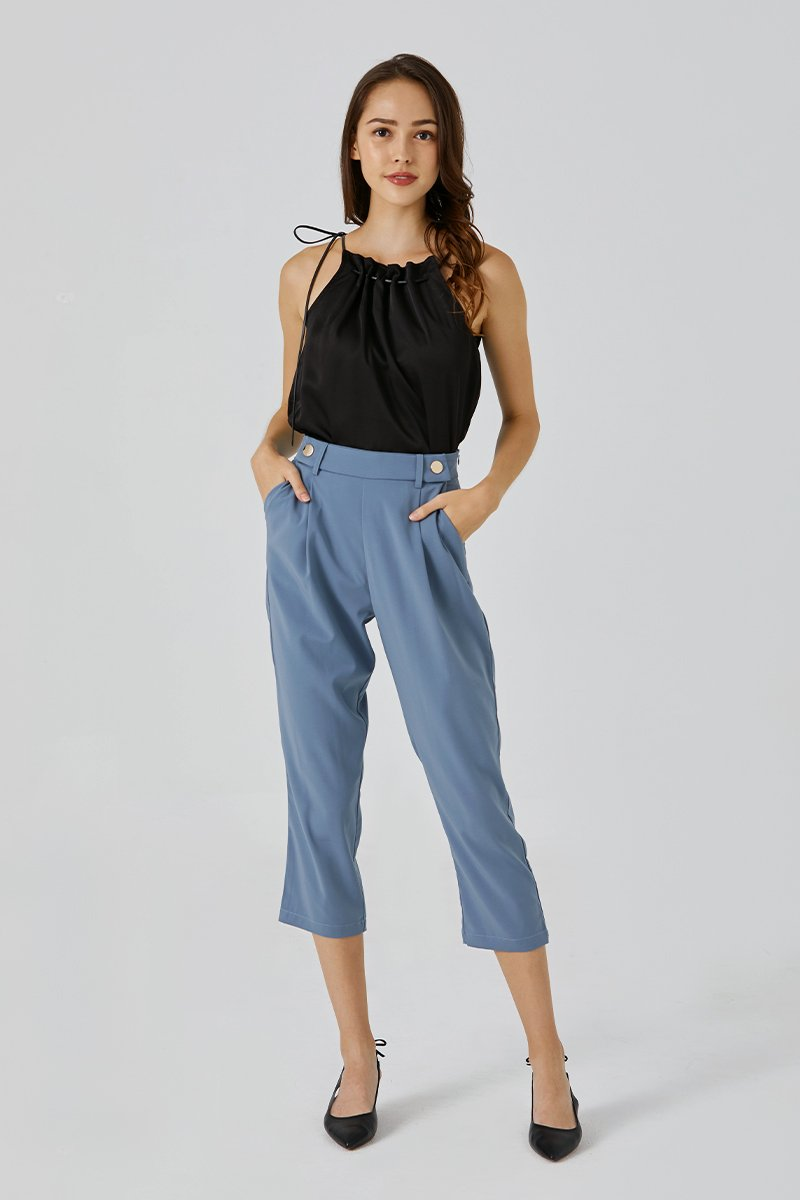 Lilliana Paperbag Pants Cobalt