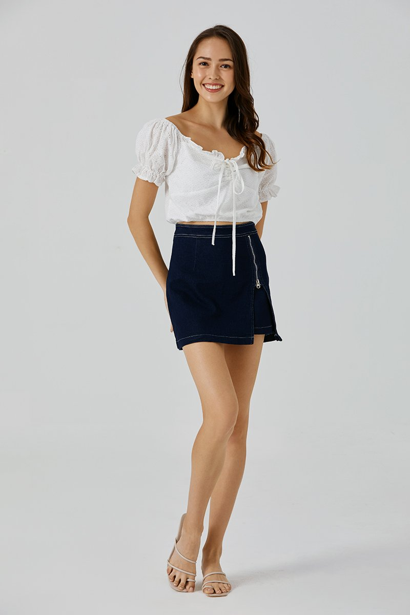 Mariah Denim Skirt Dark Wash