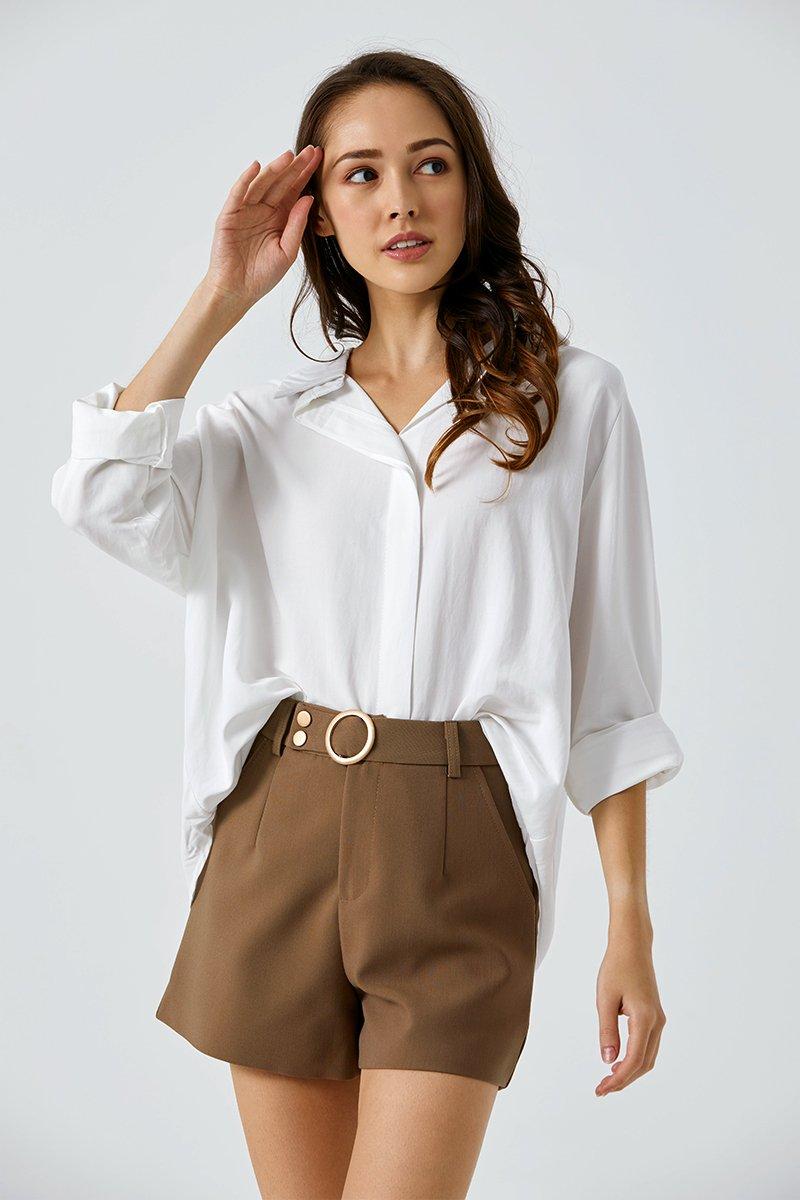 Thalia Relaxed Shirt Ivory