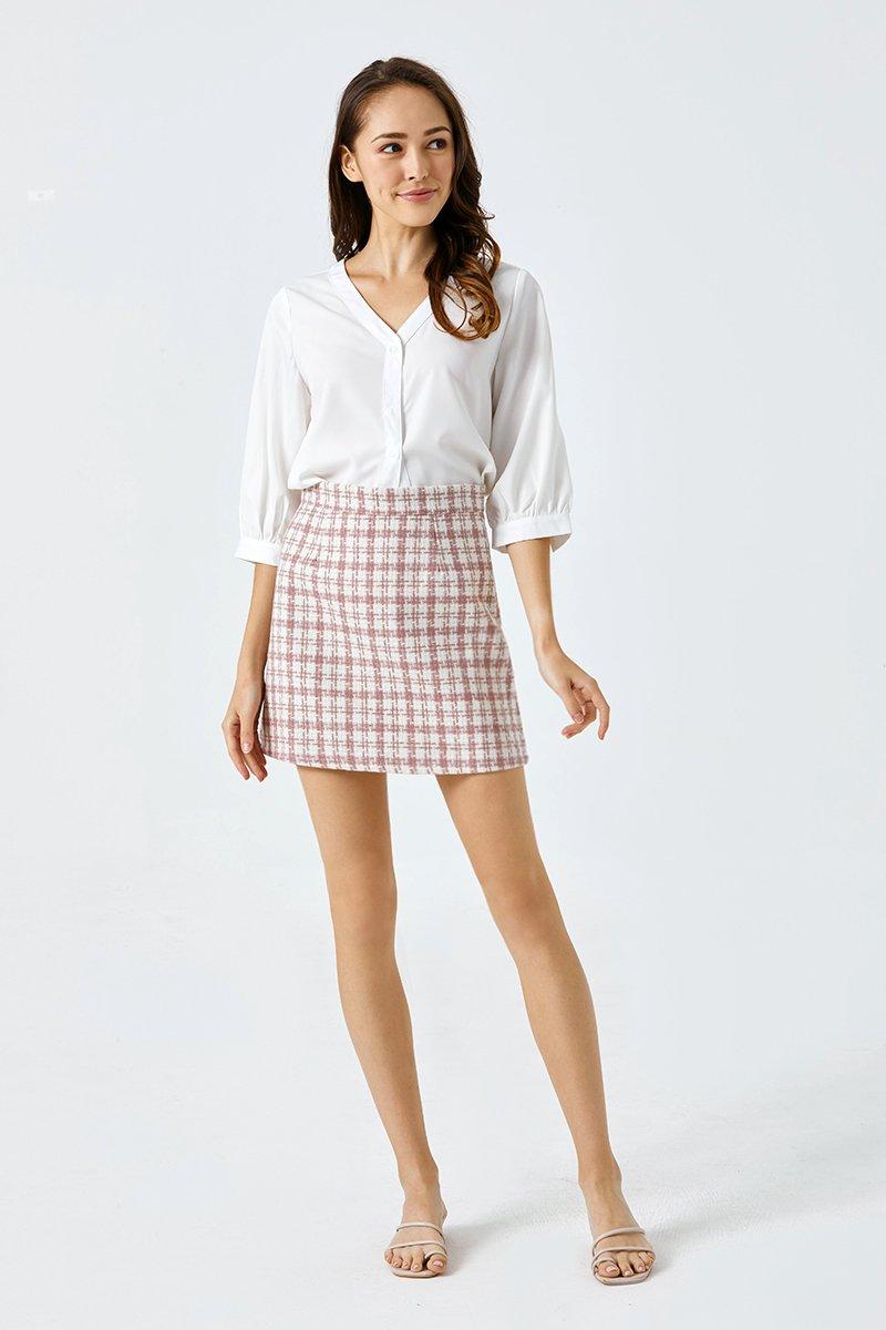 Jolene A Line Skirt Blush