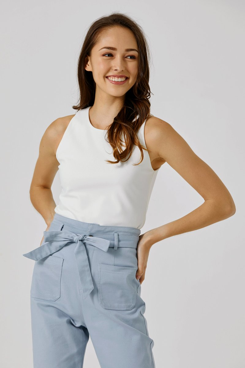 Joanne Sleeveless Top Ivory