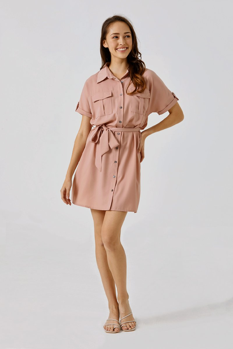 Deloria Dress Shirt Blush
