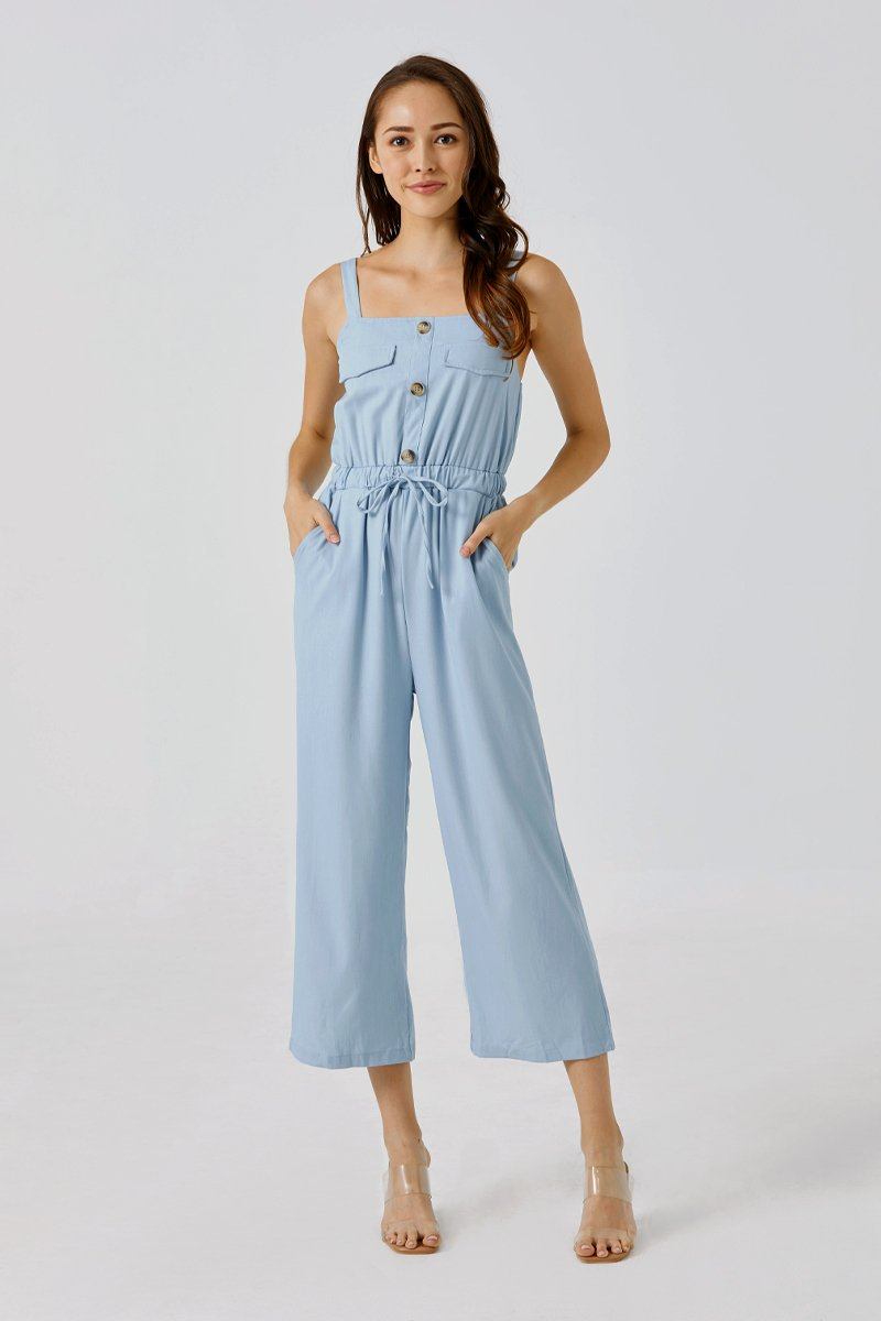 Veronica Denim Jumpsuit Light Wash