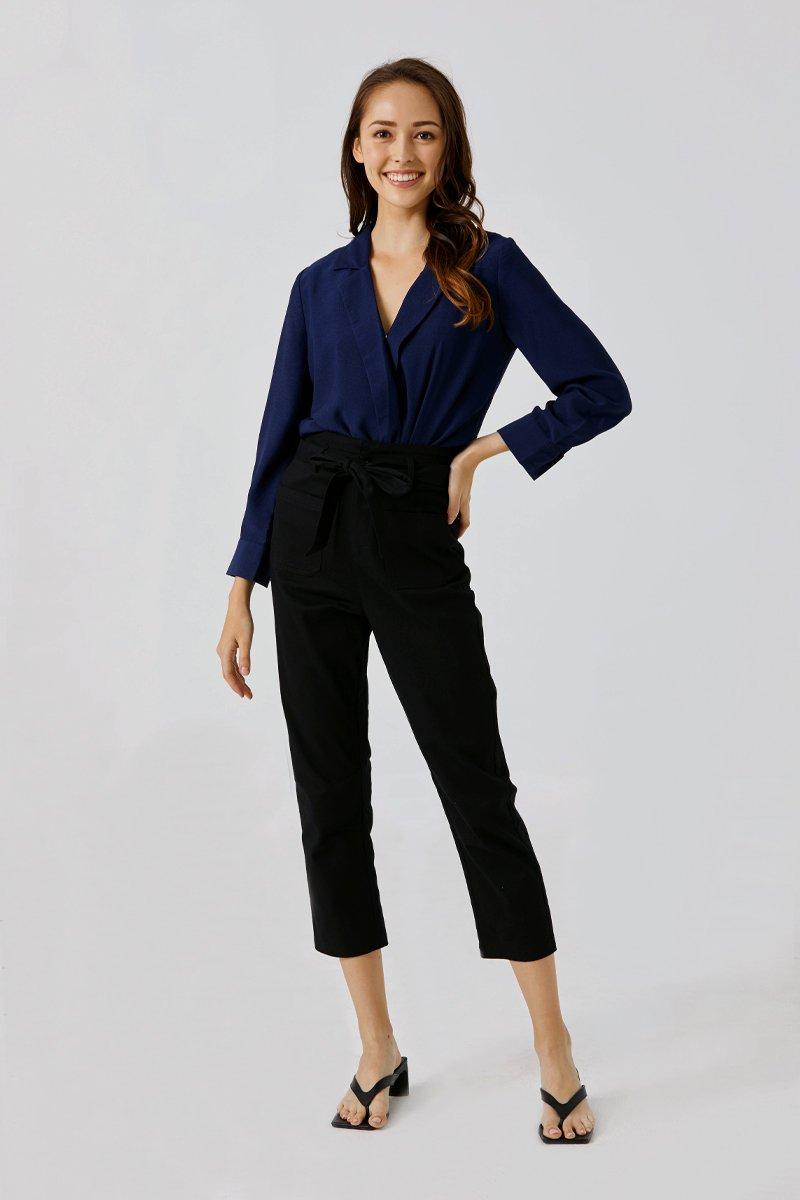 Kalani Strap-tie Pants Black
