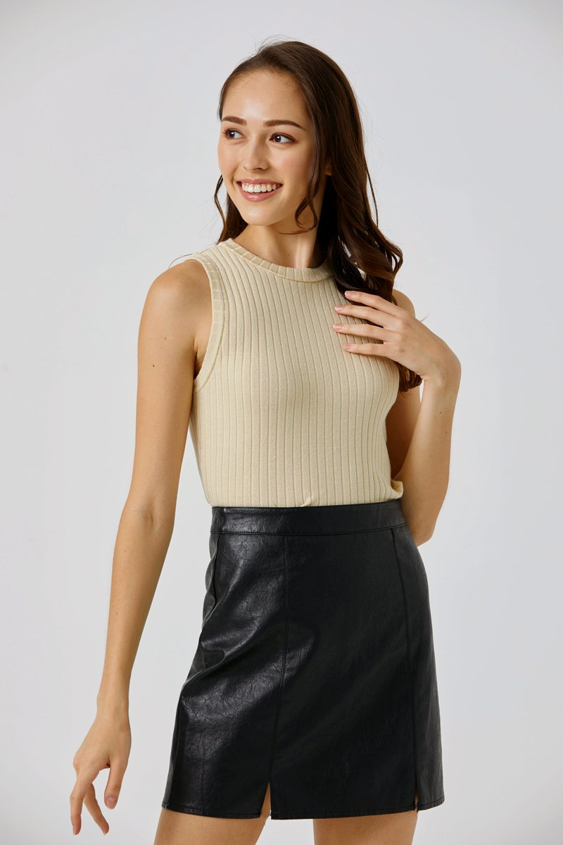 Ashe Knitted Vest Beige