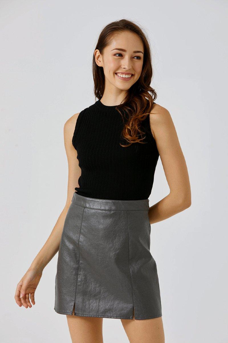 Ashe Knitted Vest Black