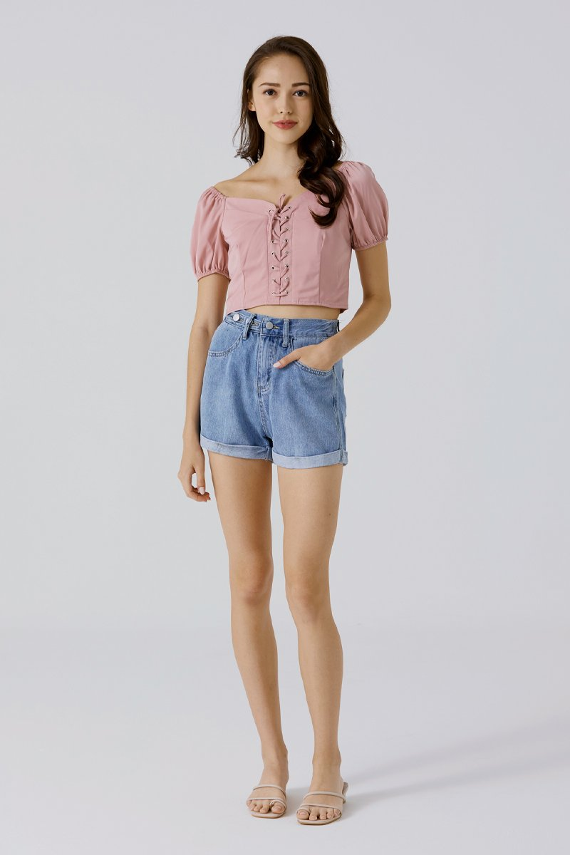 Zoella Denim Shorts Dark Wash