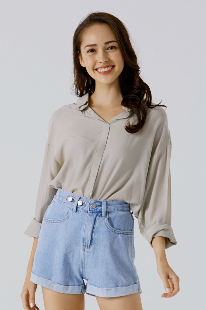 Anaise Long Sleeve Shirt Grey