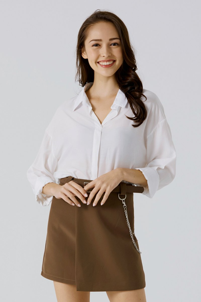 Anaise Long Sleeve Shirt Ivory