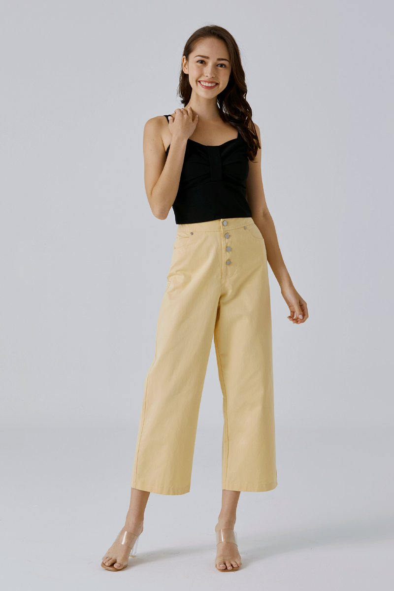 Jermaine Buttoned Pants Daffodil