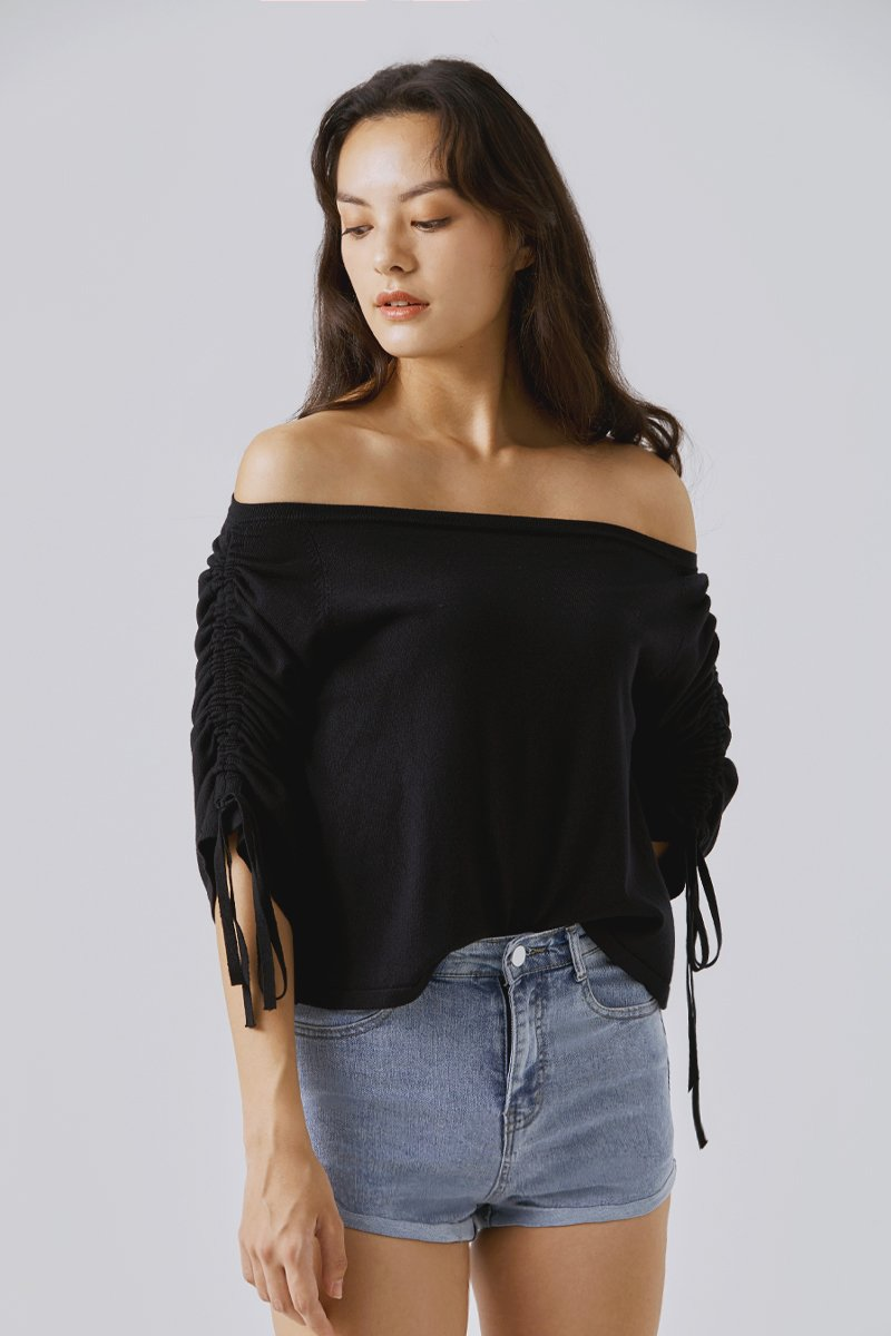 Livia Knitted Sweater Black
