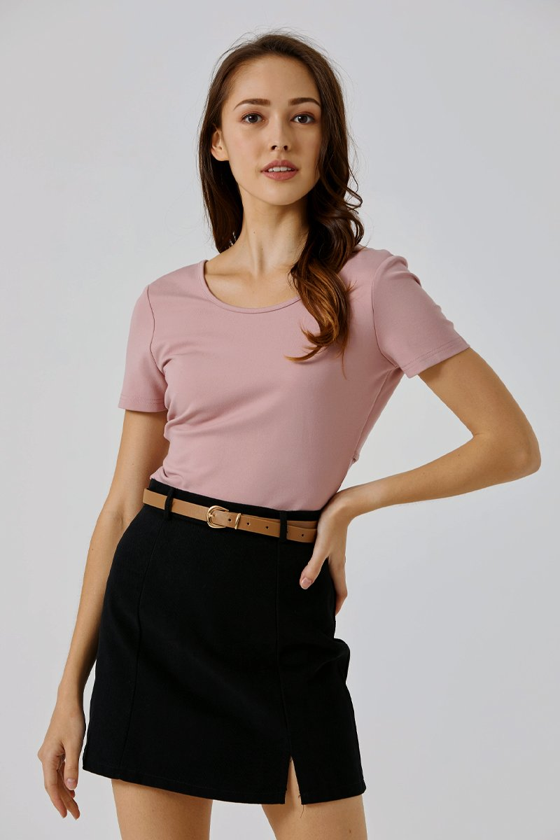 Rayna Cross Back Crop Top Blush