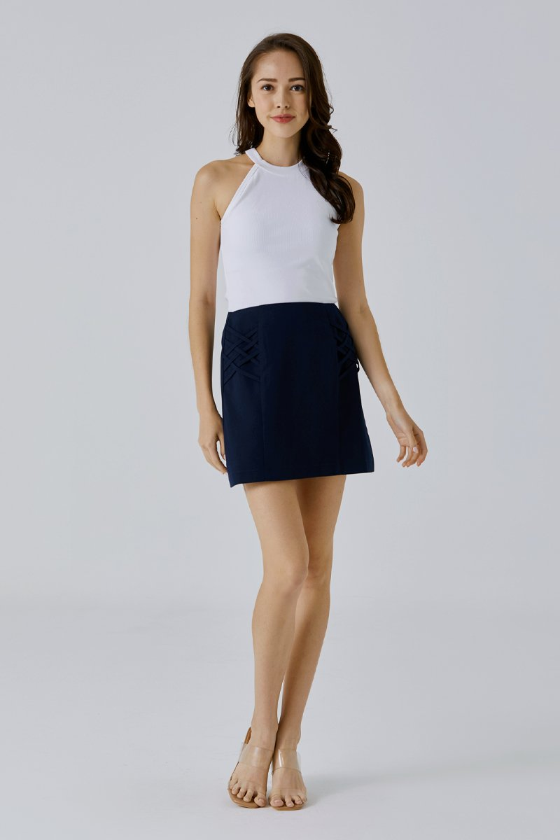 Chiara A-line Skirt Midnight