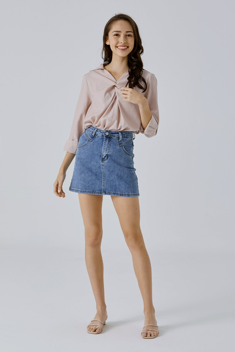 Elfie Denim Skirt Light Wash