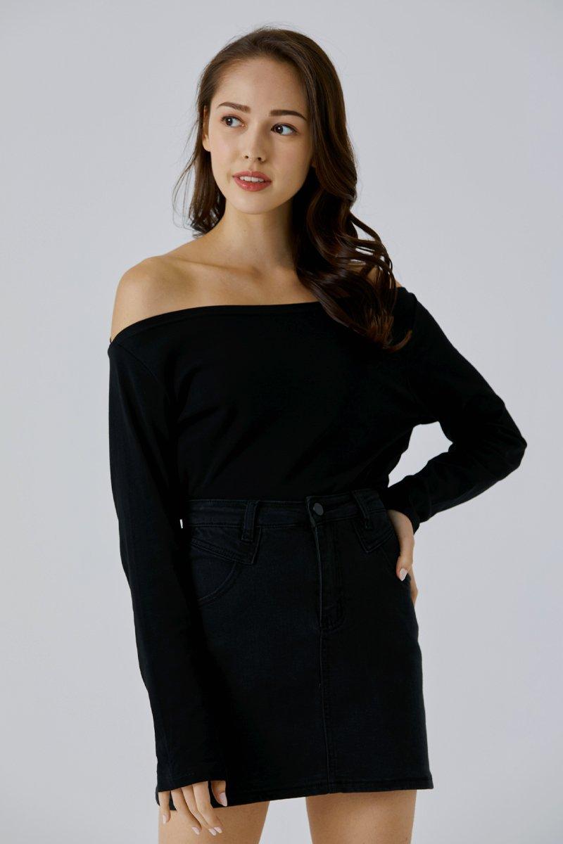 Jalissa Off Shoulder Top Black