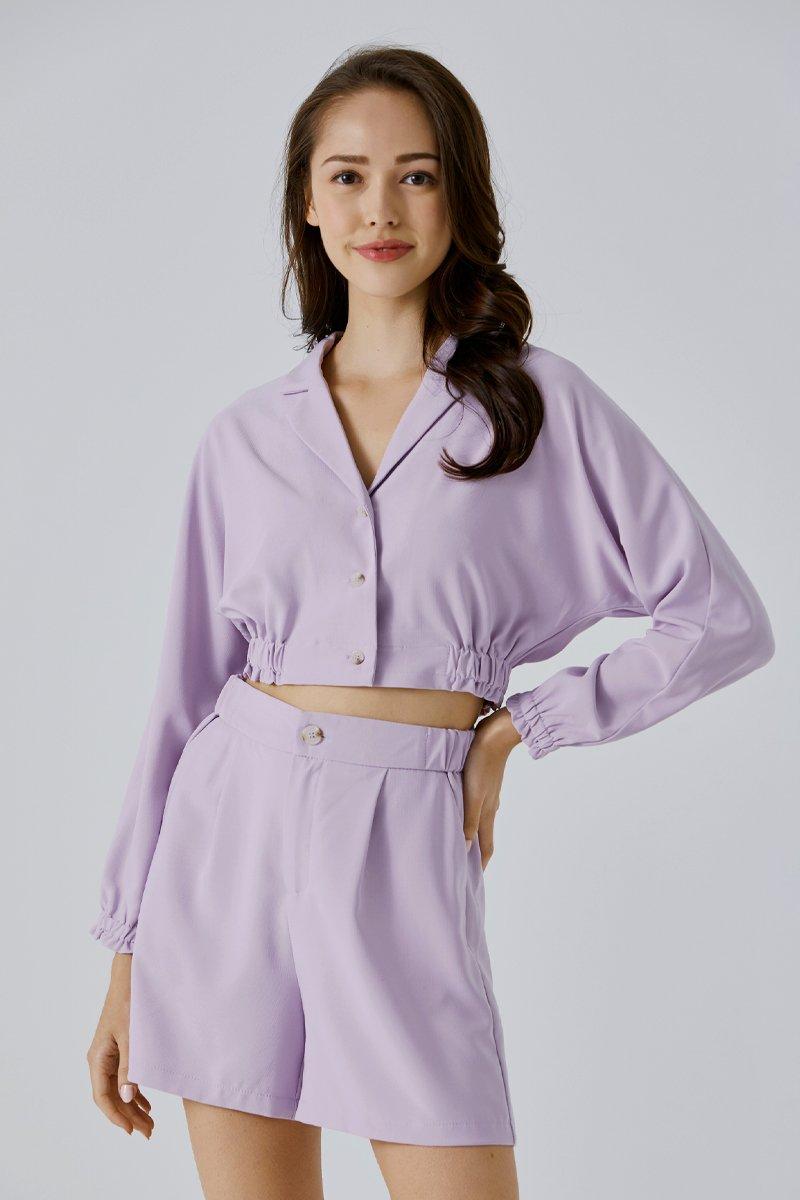 Raylea Cropped Blazer Lilac
