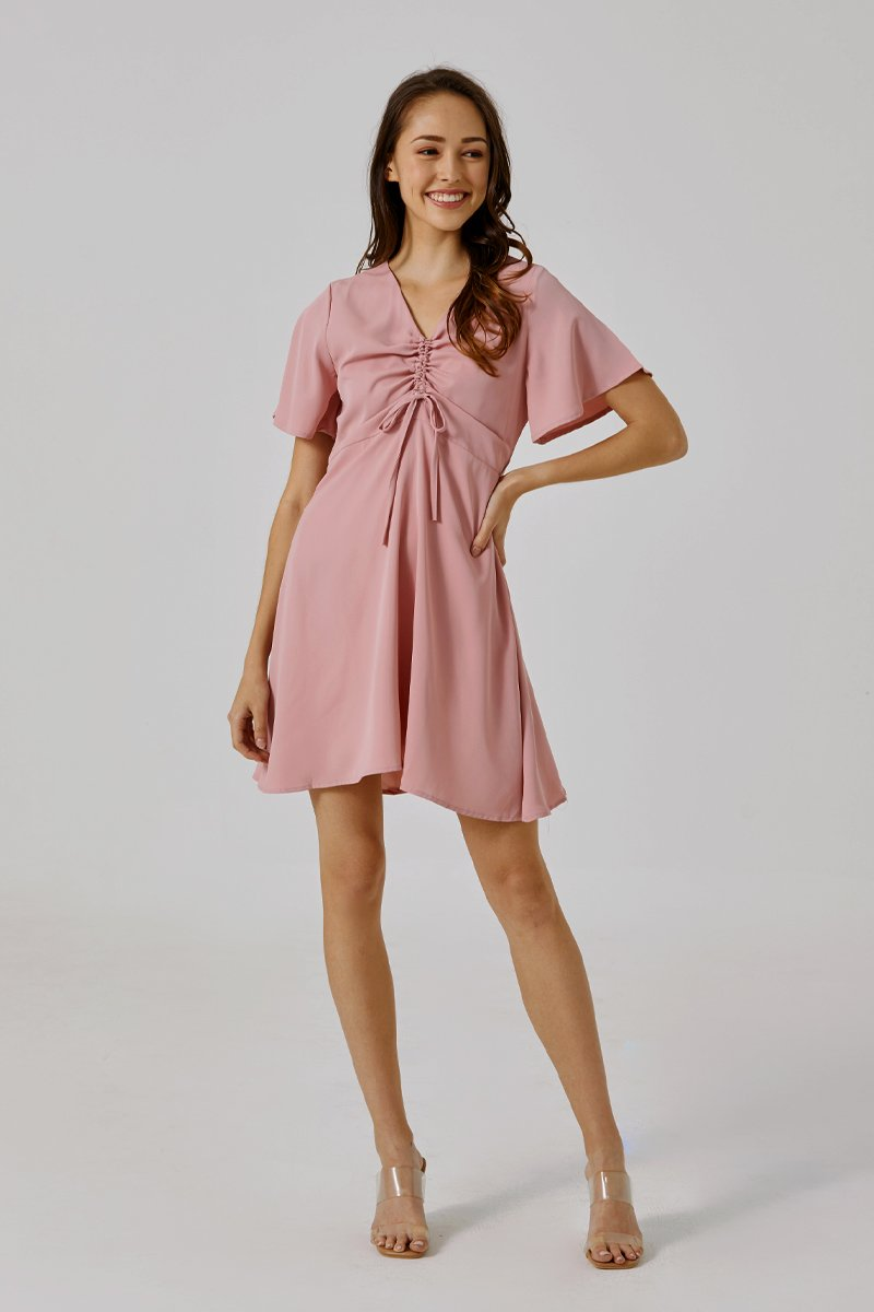 Adanya Ruched Dress Blush