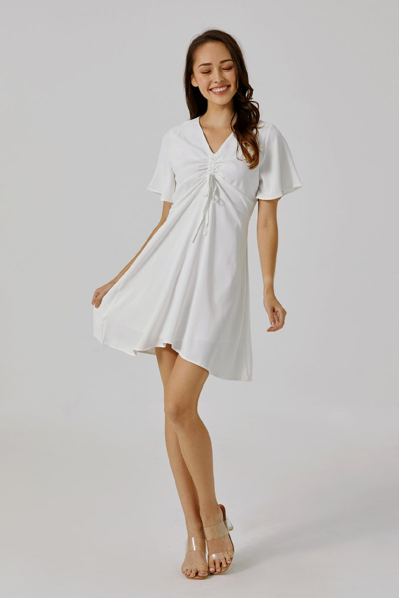 Adanya Ruched Dress Ivory