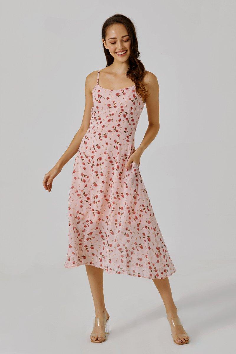 Cheryl Floral Cami Dress Blush