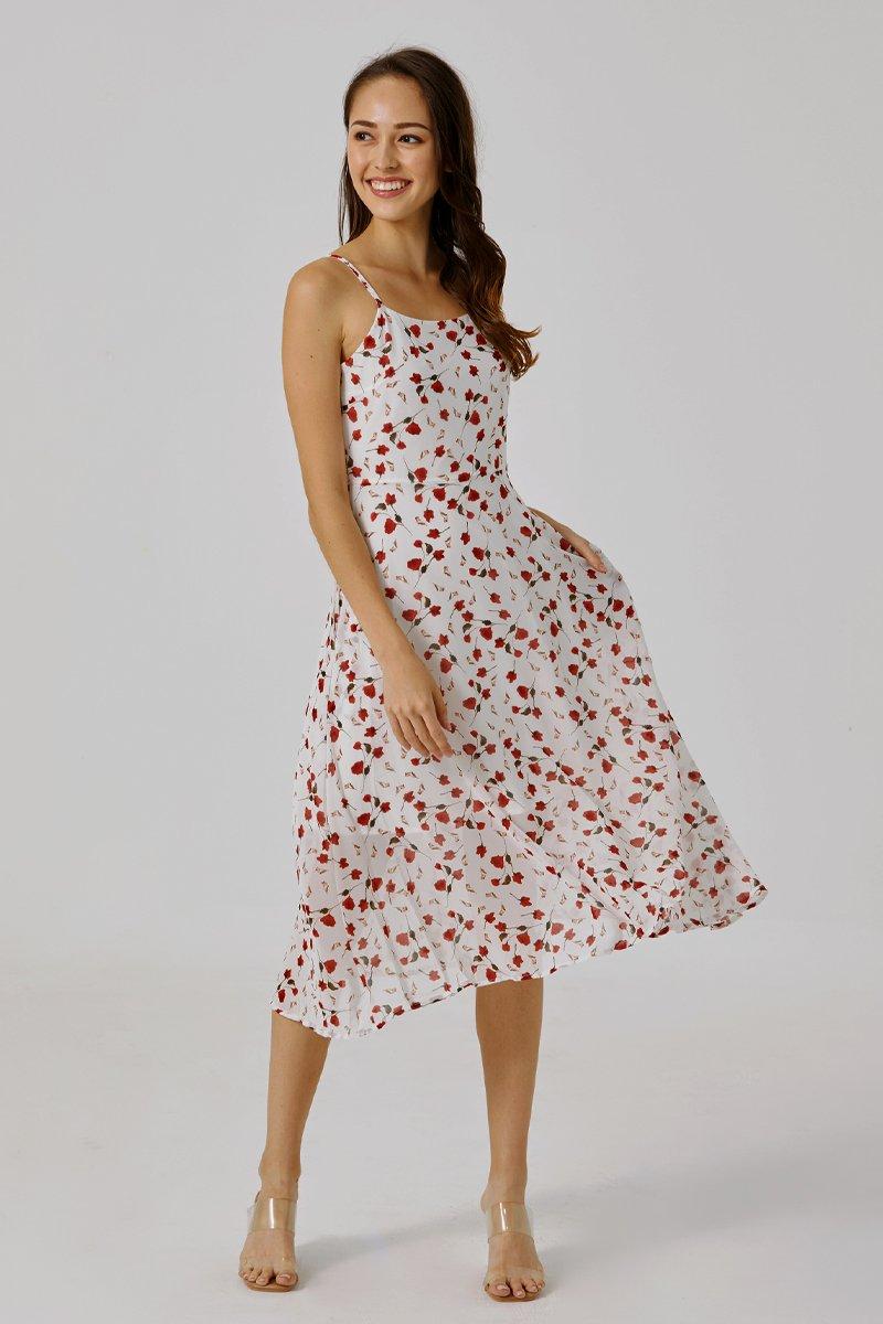 Cheryl Floral Cami Dress Ivory